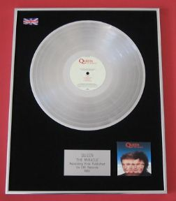QUEEN - The Miracle PLATINUM LP Presentation Disc